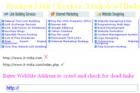 IT-India Broken Link Checker