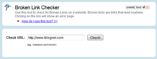 iWebTool Broken Link Checker