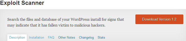 WordPress Exploit Scanner