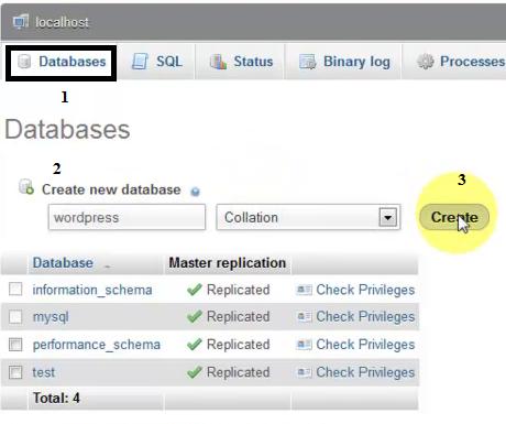 WAMP Database